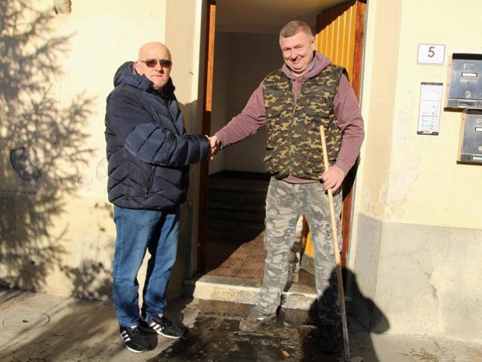 Alessio Guarducci și Ionisim Munteanu FOTO: gazzettinodichianti.it